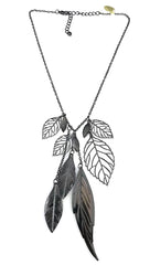 ShopAA Jewelry Metal Leaf Charm Necklace