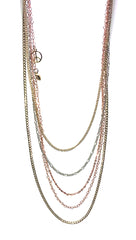 ShopAA Jewelry Multi Chain Gold Silver Rose Gold Long Necklace