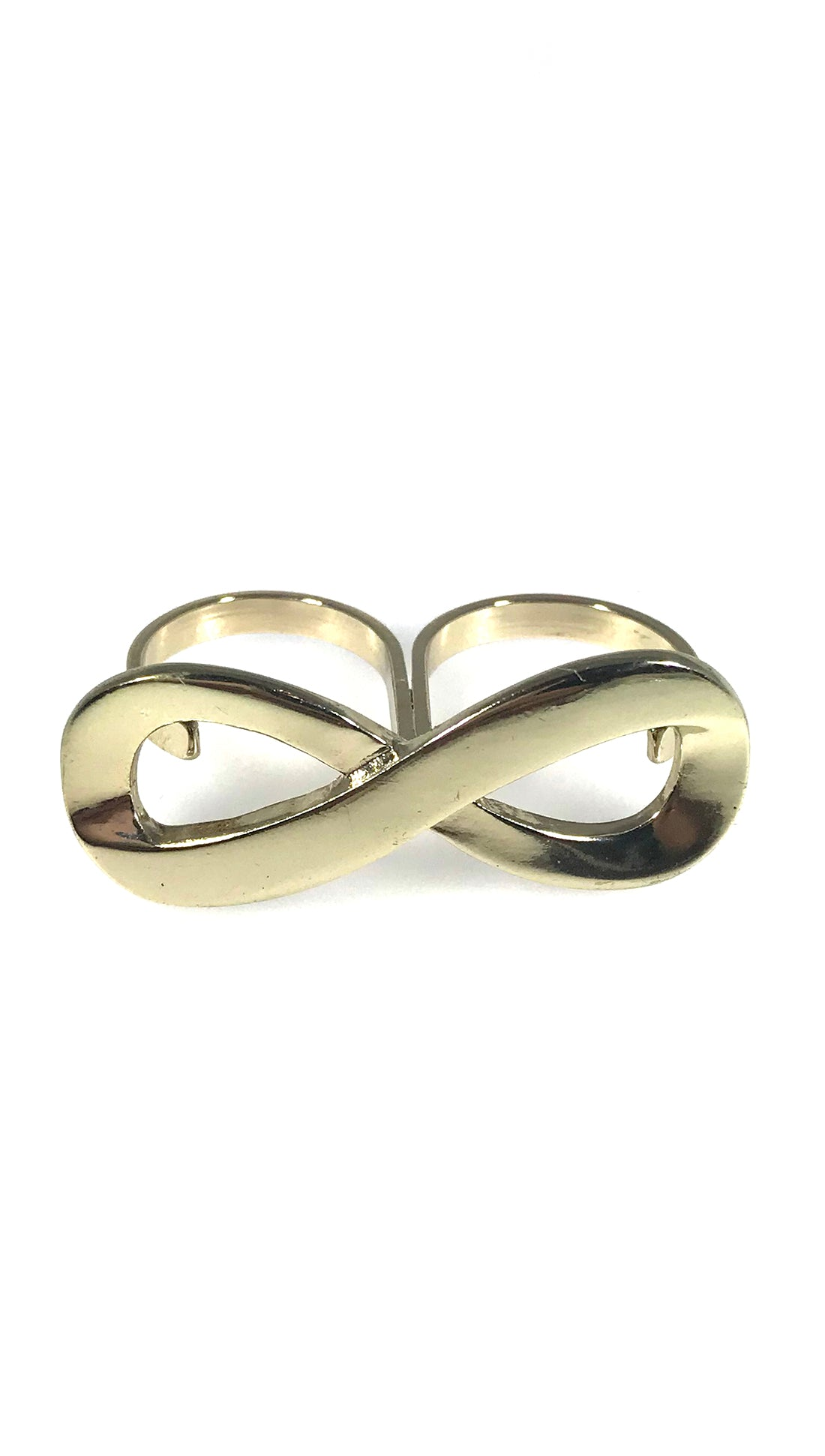 Two Finger Infinity Symbol Ring In Gold Or Silver 2finger