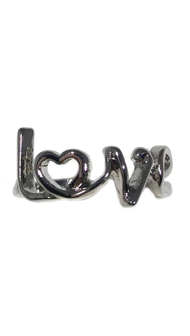 ShopAA Silver Love Ring Written in Script