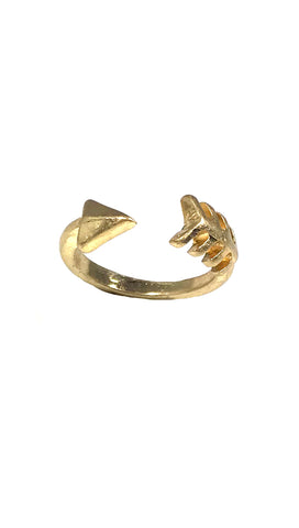 Metal Arrow Cuff Ring in Gold, Silver or Rose Gold
