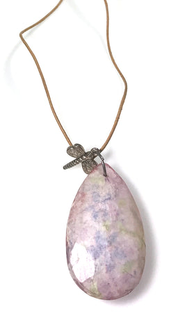 Apparel Addiction Dragonfly Crystal Stone Necklace