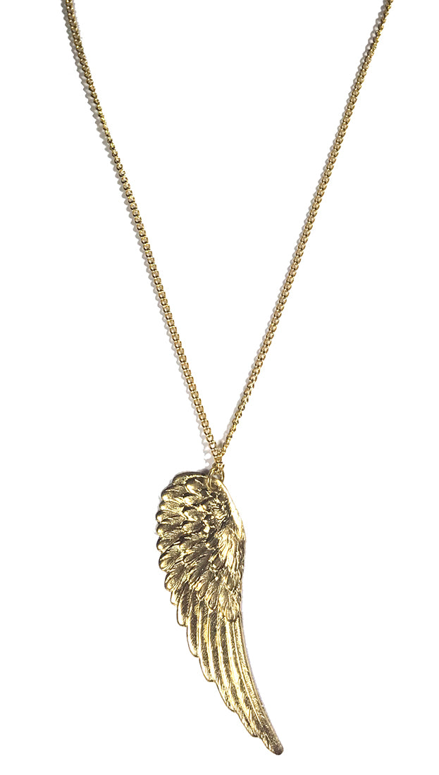 Apparel Addiction Wing Necklace Gold