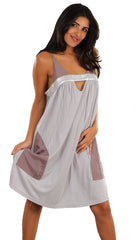Interlud Keyhole Cami Dress in Silver