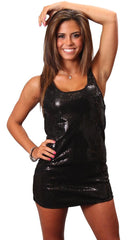 Iron by Sheri Bodell Sequined Mini Dress in Black
