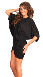 Iron by Sheri Bodell Ruched Dress in Black