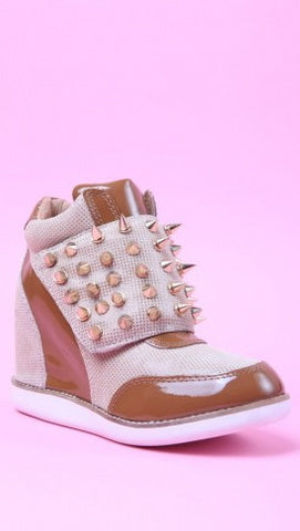 Jeffrey Campbell Teramo Spike in Tan Beige Gold