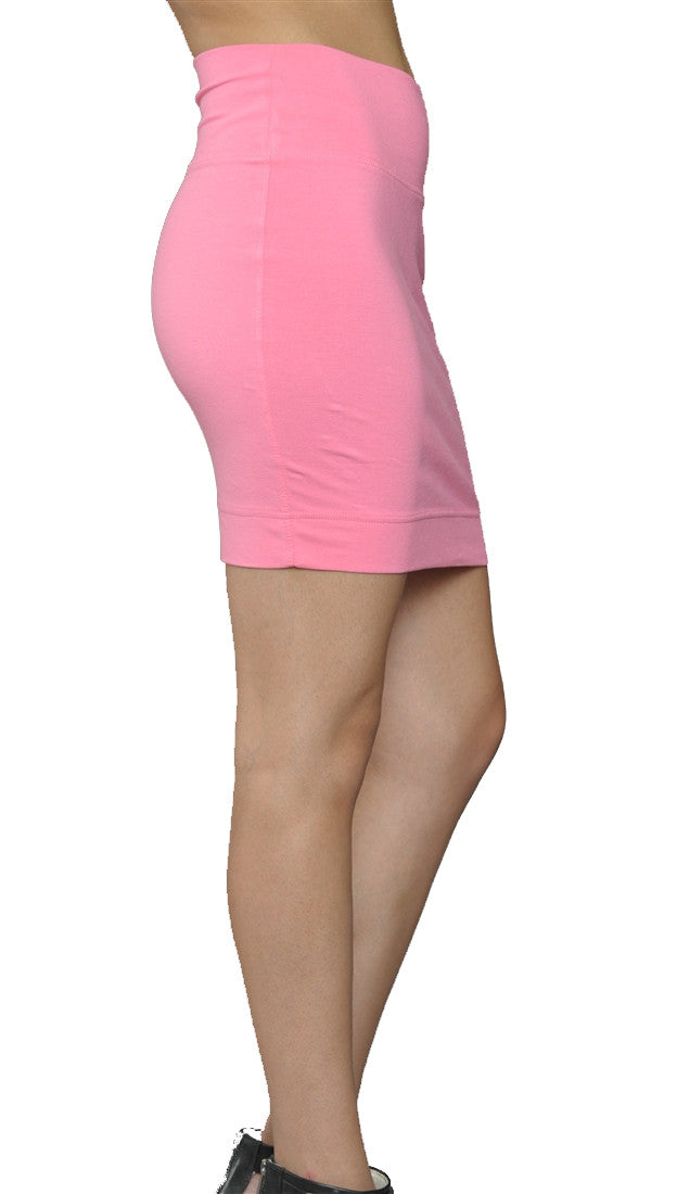 Jessyka Robyn Solid Cotton Mini Skirt in Pink