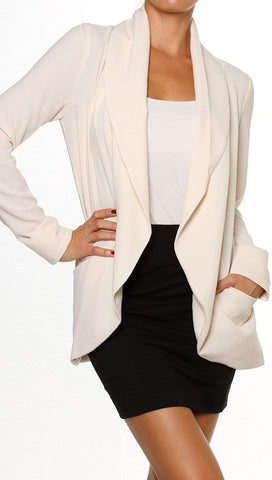 Jessyka Robyn Solid Long Sleeve Open Blazer