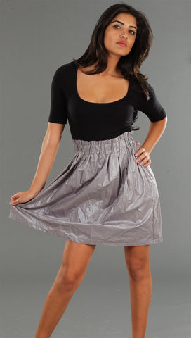 Kimberlina Contrast Dress Black & Silver