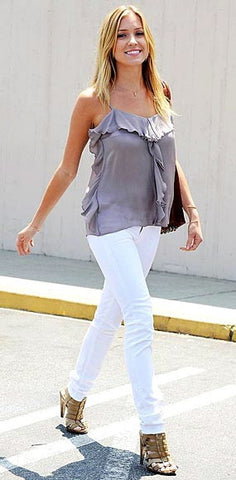 Jessyka Robyn Skinny Jeans in White as seen on Kristin Cavallari