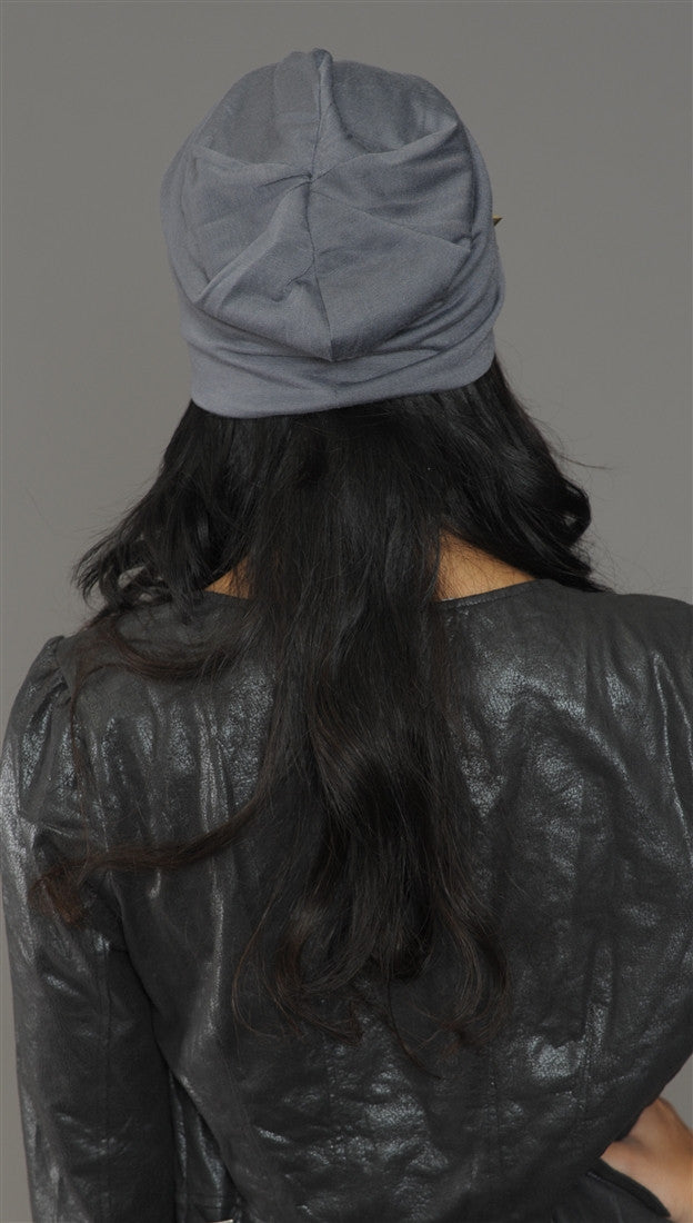 Spike Studded Beanie in Grey