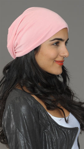 Light Pink Slouchy Summer Beanie
