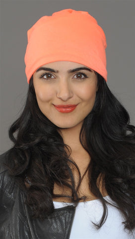 Neon Orange Slouchy Summer Beanie