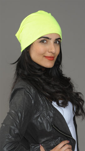 Neon Yellow Slouchy Summer Beanie