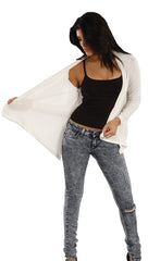 Jet John Eshaya Asymmetrical Cardigan in Cream