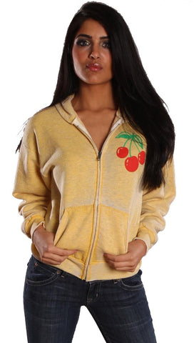 Jet John Eshaya Burnout Cherry Hoodie Yellow