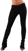 Jet John Eshaya Black Zipper Ankle Bottom Jeans