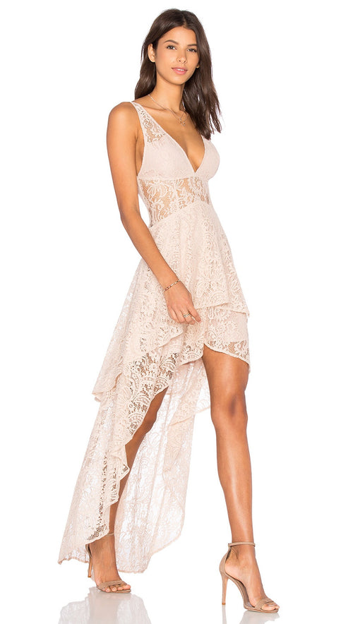 the jetset diaries resort maxi dress nude side