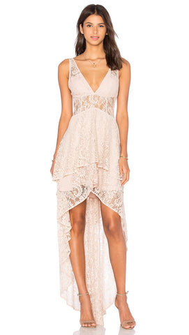 the jetset diaries resort maxi dress nude front