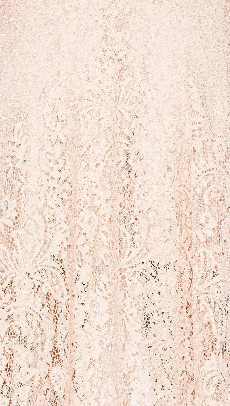 the jetset diaries resort maxi dress nude lace V