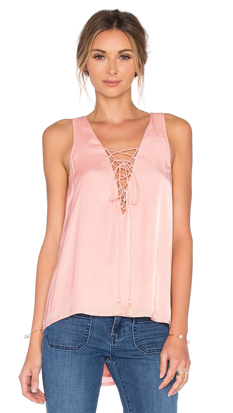 the jetset diaries lotus tank blush pink