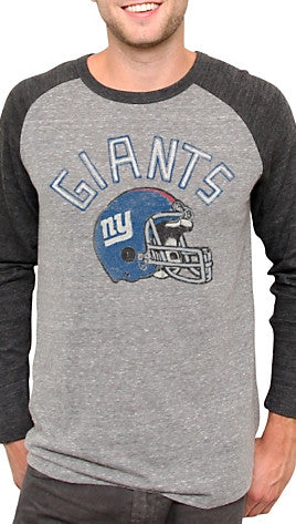 Junk Food Clothing NFL New York Giants Raglan