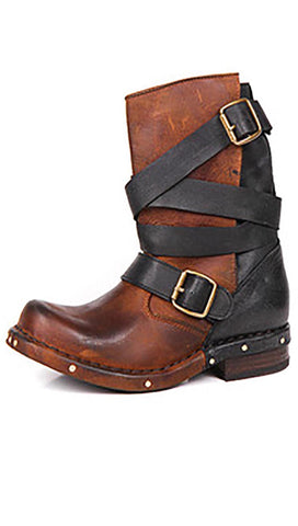 Jeffrey Campbell Rougues Boot Brown Black Vintage Leather