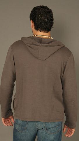 Kanvis Button Down Hoodie Charcoal