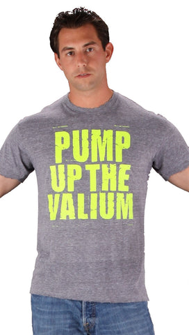 Kid Dangerous Mens Pump Up The Valium Tee Shirt Heather Grey