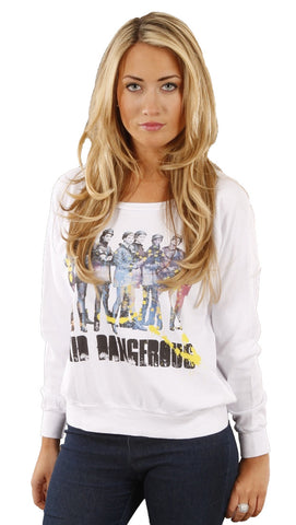 Kid Dangerous Chorus Line Pullover Top Shirt White