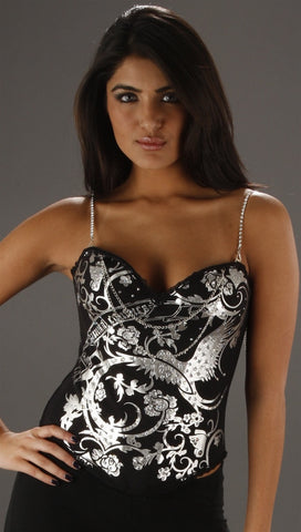Kimikal Metallic Flower & Bird Corset
