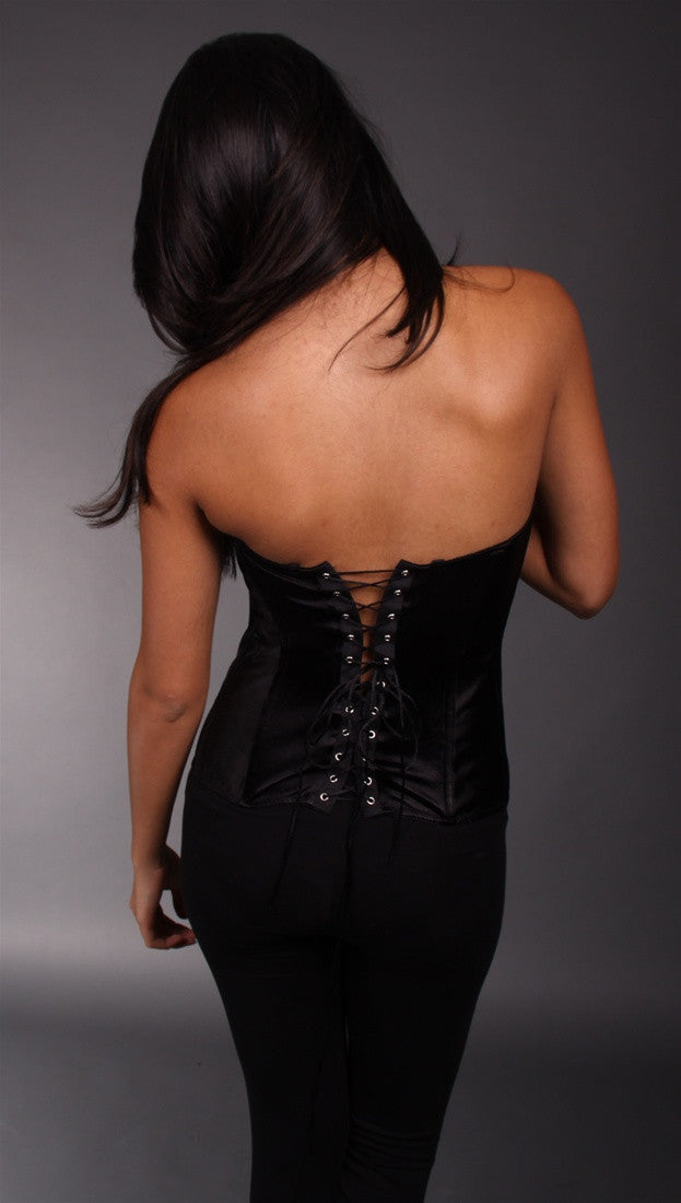 Kimikal Lace Trim Corset in Brown