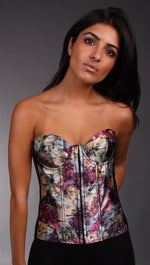 Kimikal Assorted Animal Print Corset in Purple