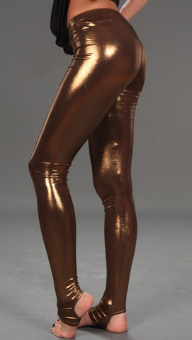 Kinkate Shiny Leggings Bronze