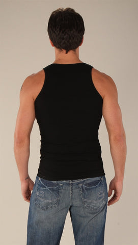 Kinkate Basic Ribbed Tank Black