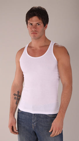 Kinkate Basic Ribbed Tank White