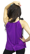 Aqua Ribbon Tie Tank in Purple