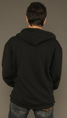 Kinkate Black Zip Up Hoodie