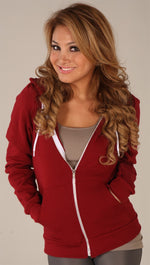 Kinkate Unisex Zip Up Hoodie Cranberry