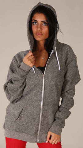 Kinkate Unisex Zip Up Hoodie Pepper