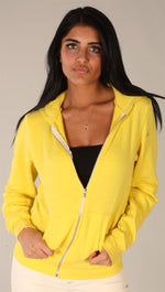 Kinkate Unisex Zip Up Hoodie Yellow