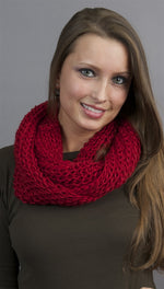 Kinkate Infinity Scarf in Red
