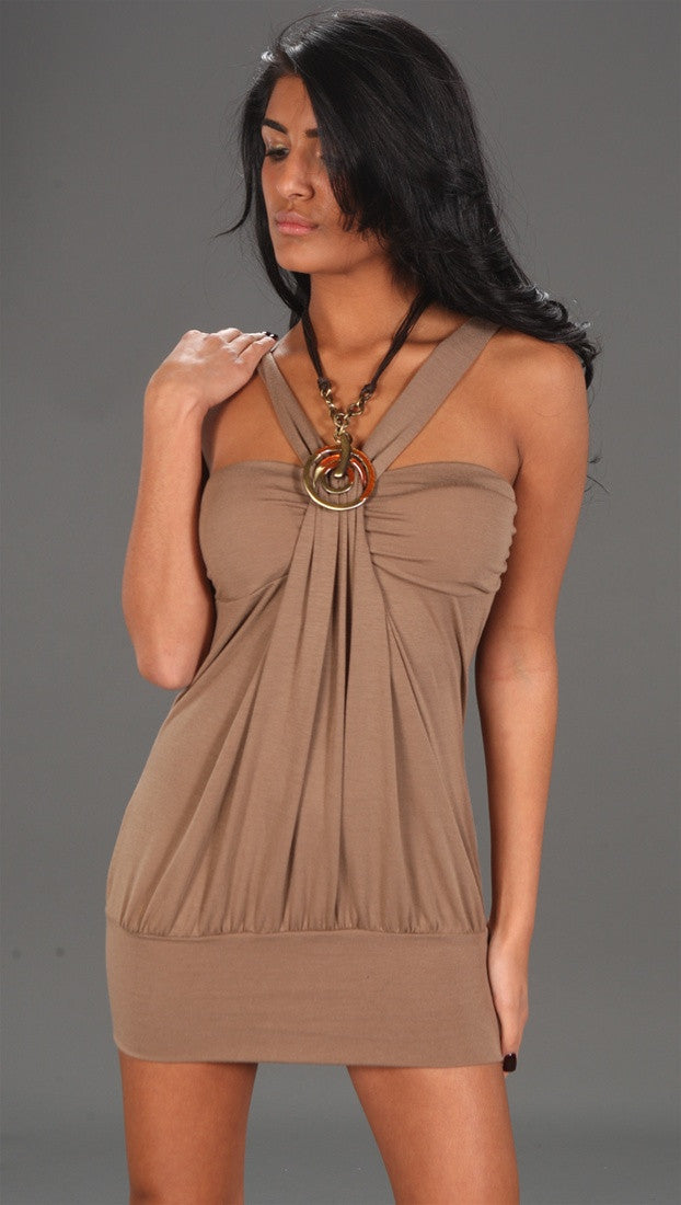 Zendo Couture Jewel Tie Back Tan