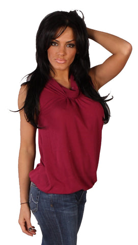 Apparel Addiction Hypnotic Scoop Neck Tank Fuchsia