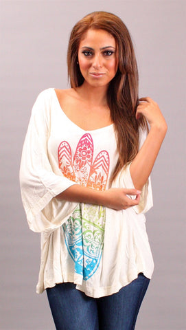 La Fine Fatima Color Big Tee in Ivory
