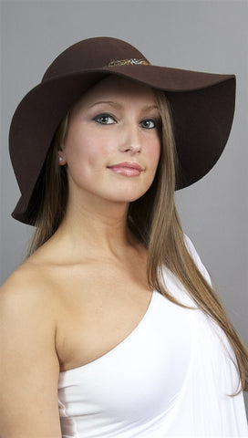 La Fine Head Wear Oversize Hat in Brown