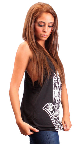 La Fine Fatima Tank Top in Black