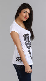 Lauren Moshi Tegan Love Crew in White