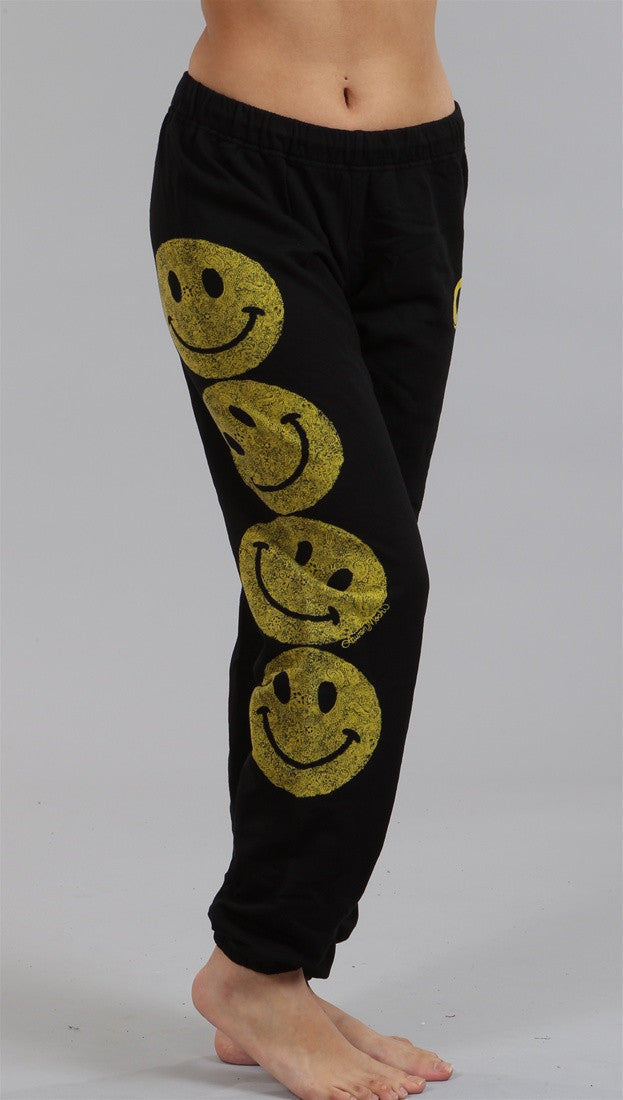Lauren Moshi Happy Face Erin LMV Pants in Black